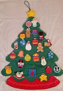 Hallmark 2004  Countdown to Christmas Advent Felt Tree Magnetic Interactive