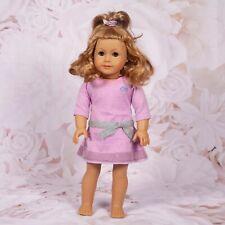 "American Girl Doll ""Truly Me"" Green Eyes & Reddish Blonde Hair W/Lavender Dress"