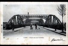 PARIS (XIII°) TRAMWAY sur PONT Metallique de TOLBIAC animé avant en 1904