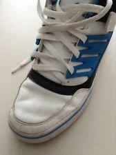 Adidas EVH791004 Hi Top Tenis Tenis Blanco Azul Negro Encaje Ups Talla 7 EU 40