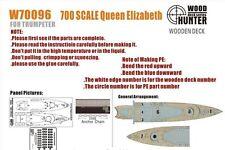 Wood Hunter 1/700 HMS Queen Elizabeth Wooden Deck for Trumpeter kit