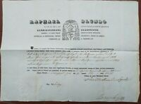 1846 289) MONTEPARANO DOCUMENTO AUTOGRAFO NICOLA BOSCERO DA FLUMERI DI AVELLINO