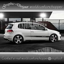 FASCE ADESIVE STICKERS WOLKSWAGEN GOLF SPORT AUTO TUNING RACING
