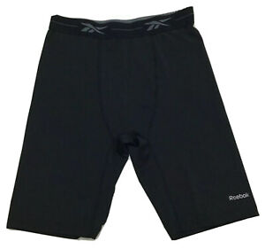 Reebok Play Dry Compression Jammer Shorts Black Size M