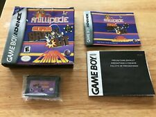 Millipede Super Breakout Lunar Lander Nintendo Gba Game Boy Advance Complete
