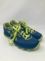 Icebug Men's Acceleritas RB9X Traction Running Shoe, 10.5 N US, Blue/Yellow/Gree