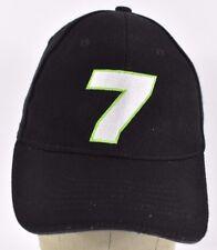 Black #7 NASCAR Signed Embroidered baseball hat cap Adjustable