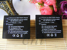 2X Battery for Panasonic CGA-S005A DMW-BCC12 Lumix DMC-LX2 DMC-LX1 LX2 DMC-FX7
