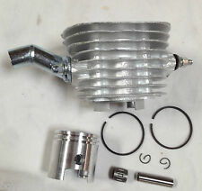 "47mm 80CC Motorize Bicycle Engine cylinder piston 15/16"" ring bearing 8mm silver"