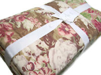Pottery Barn Multi Colors Carolina Patchwork Paisley Full Queen Quilt New