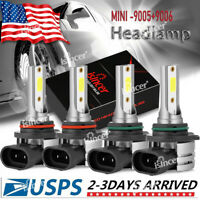 4pcs 9005+9006 LED Combo Headlight Kit CREE COB 440W High & Low Beam Light Bulbs