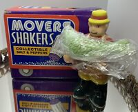 "Vintage OCI Omnibus""Hook Line & Sinker"" Salt/ Pepper Shaker's New With Box"