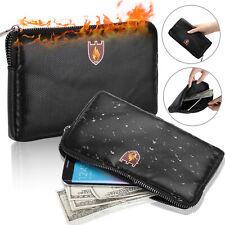 Money Safe Cash Box Secret Document Bag File Pouch Case Fireproof Waterresistan
