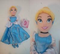 Peluche Original Cendrillon 31 cm Doux Disney avec Étiquette Original