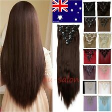 Hair extensions ebay real natural full head clip in hair extensions straight 18 clips as human mo21 pmusecretfo Choice Image