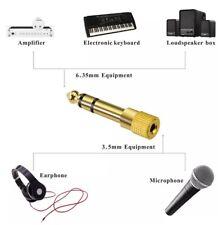 3.5 mm A 6.35 MM Maschio Donna Jack Spina Audio Convertitore Adattatore Per Cuffie d'oro