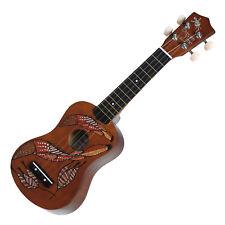 New Sanchez Soprano Dreamtime Aboriginal Ukulele 4 String Beginner Kids (Fish)