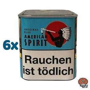 6 x American Spirit Original Blue / Blau Tabak 80 g Dose