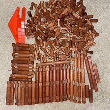 Lincoln Logs Lot of 200+ Mixed Assorted Pieces