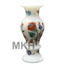 Flower Vase Pot Marble Container Inlay Stones Decor Home Plant Planter Vintage