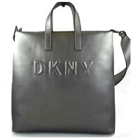 DKNY Tilly Logo Tote NEW OSFA DARK GRAY