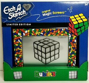 Etch A Sketch Rubiks Cube 60th Anniversary Limited Edition Drawing Toy NEW