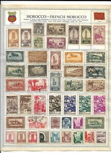 Morocco-French Morocco 2 Pages Unpicked Stamps