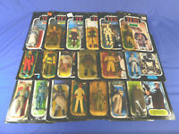 VINTAGE STAR WARS 19 SEALED CARDED FIGURES LOT KENNER MOC 80's