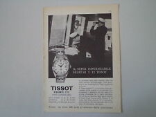 advertising Pubblicità 1961 OROLOGIO TISSOT VISODATE T 12