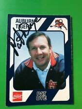 Auburn Tigers PAT DYE Signed Card
