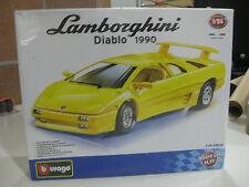 BURAGO LAMBORGHINI DIABLO 1990 YELLOW DIE CAST METAL-1/24 NUEVO Y CON PRECINTO!!