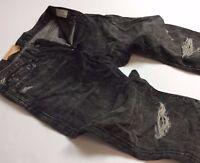 Denim Supply Ralph Lauren Vtg Distressed Ripped Shredded Stretch Slim Jeans Men