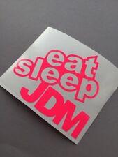 Volonté Sleep JDM Fluo Rose Autocollant Tuning School Roller Moto Décalque Turbo