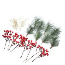 Assorted Artificial Pine, Twig, and Berry Spray Set | 2 Packages