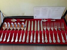 Viners Cutlery Set Canteen Kings Pattern Silver Plated x 24 pieces