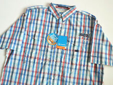 COLUMBIA SPORTSWEAR SUPER BONEHEAD PFG PLAID OMNI SHADE SHIRT SZ.XL! FISHING,NEW