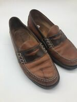 ORVIS BROWN LEATHER SLIP ON PENNY LOAFERS MEN'S SHOE SIZE 11