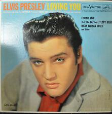"ELVIS PRESLEY ""Loving You"" RCA LPM 1515 EX Rock LP Mono Early Pressing"