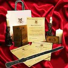 Harry Potter Style REAL WITCHES WAND! + Marauders Map + Hogwarts Train Ticket n