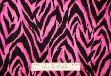 Fashion Skin Pink Black Tiger Skin Print Diva Girl Cotton Novelty Fabric YARD