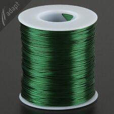 Magnet Wire, Enameled Copper, Green, 21 AWG (gauge), 155C, 1 lb, 400ft ~0.71mm *