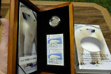 "2004 Canada Mint Silver Coin and Stamp Set ""The Proud Polar Bear"" Fine Silver"