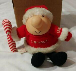 Vintage Ziggy Plush Doll Christmas I Love You Candy Cane Tom Wilson 1985