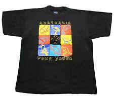 Vintage 90s Australia Shirt Down Under Medium Black Samsousan T-Shirt Euc