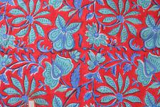5 Yard Indian Hand block Print Running Loose Cotton Fabrics Printed Decor