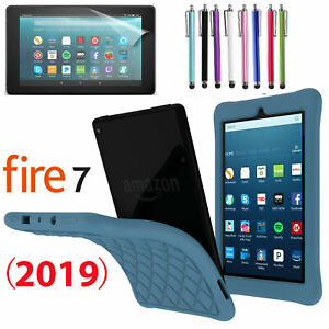 For Amazon Fire 7 / HD 10 (2019) Anti-slip Shock Proof Gel Rubber Silicone Cover