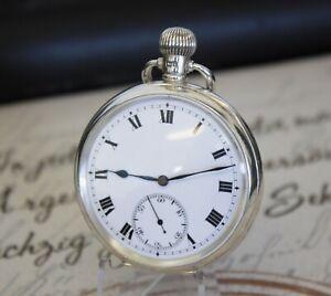 Antike englische Taschenuhr massiv Silber pocket watch DENNISON WATCH CASE