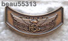 HARLEY DAVIDSON OWNERS GROUP HOG H.O.G. ROCKER 1992 VEST JACKET HAT PIN 92