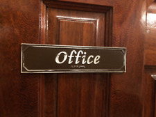 Office Door or Wall Sign with Braille
