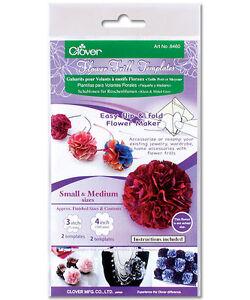 CLOVER Flower Frill Templates Various Flower Maker Sizes 75mm 100mm 125mm 150mm
